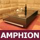 """Designer-Loungetisch """"Amphion"""", Glastisch, Glas, Eiche, Glasloungetisch"""
