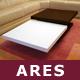"""Designer-Couchtisch """"Ares"""", Eiche, Weiß Loungetisch"""