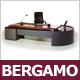 """Designer Chef Schreibtisch """"Bergamo"""", Nussbaum, Sideboard, Schubladencontainer"""