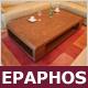 """Designer-Couchtisch """"Epaphos"""", Ulme, Loungetisch"""