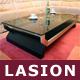 """Designer-Loungetisch """"Lasion"""", Glastisch, Glasplatte, Couchtisch Eiche"""