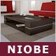 """Designer-Loungetisch """"Niobe"""", Couchtisch Eiche, Glasplatte, Glastisch"""