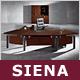 """Chef-Bürokombination """"Siena"""", Schreibtisch, Aktenschrank, Blackwood"""