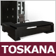 "Chef-Bürokombination ""Toskana"", Nußbaum Schwarz, Schreibtisch, Bürowand"