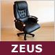 """Designer Chefsessel """"Zeus"""", Echtleder"""