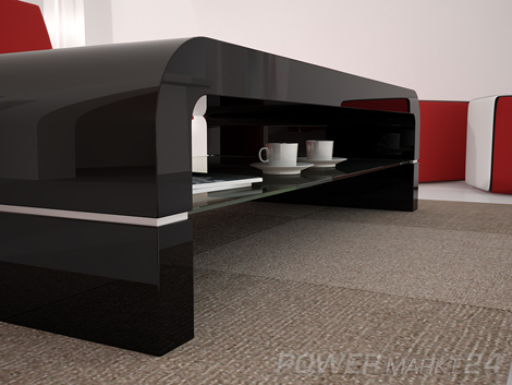 design couchtisch hybris schwarz hochglanz glas tisch ebay. Black Bedroom Furniture Sets. Home Design Ideas