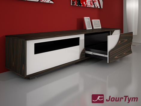 design tv lowboard sideboard elara hochglanz weiss. Black Bedroom Furniture Sets. Home Design Ideas
